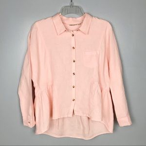 Anthropologie | Holding Horses | Linen Button Top